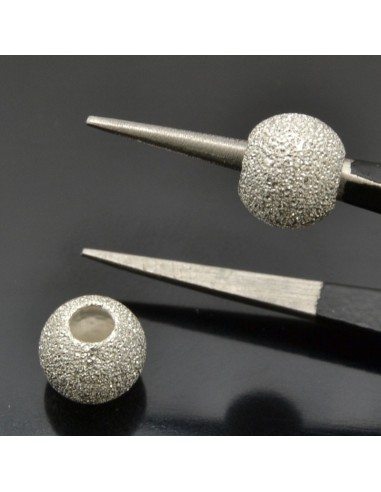 Perle Distanziatori Inframezzi diamantate 7x5 mm 5pz in argento 925%