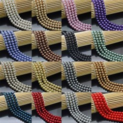 Vetro Finte Perle filo Perline 4mm di 40cm 190pz