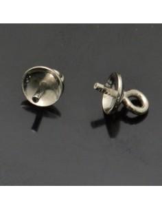 Coppetta con gancio e perno 5x7 mm 10pz in argento 925%