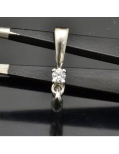 Gancio-Ciondolo pendente per pietra 19x3 mm 1pz in argento 925%