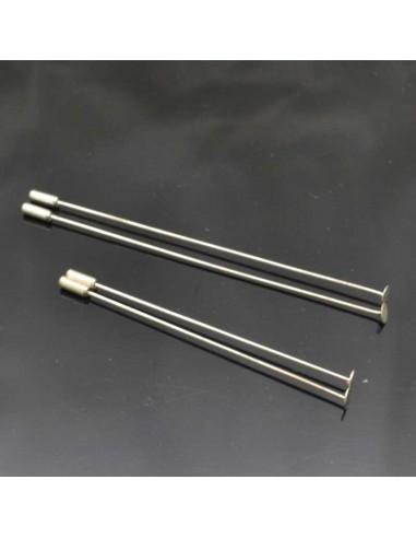 base Spilla Ago da decorare Spillone per creazioni bigiotteria 10.50 cm copperta 8mm 2 pz