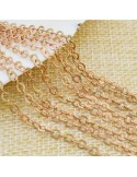 Catena in ottone anelli piatta saldati catena ovalina 2.7x3.3mm 1mt per bigiotteria