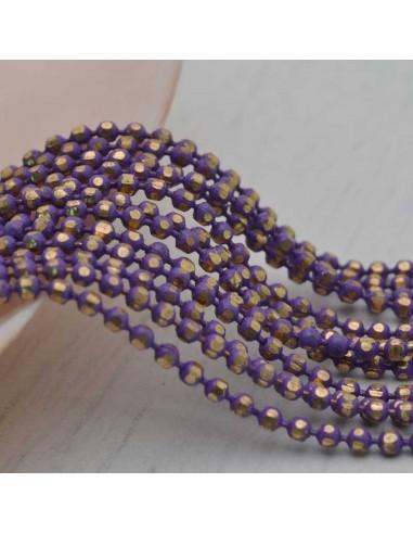 Catena a Palline Diamantata in ottone colorata a pallini 12 colori 1,5mm