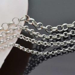 Catena rolò in ottone anelli saldati 2.0mm 2.5mm 3.0mm 4mm argento per bigiotteria