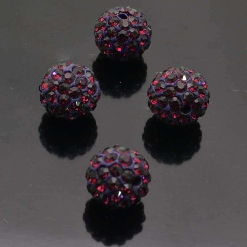 Perline con strass tipo swarovski 8mm per bigiotteria 2pz