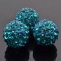 Perline con strass tipo swarovski 10 mm per bigiotteria 1pz