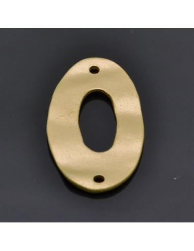 Ciondolo Zama inframezzo ovale Oro e Argento