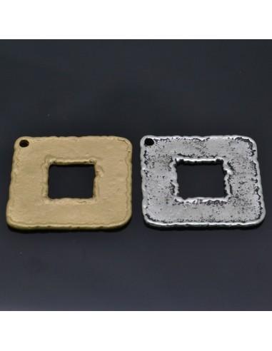 Ciondolo Zama quadrati Oro e Argento