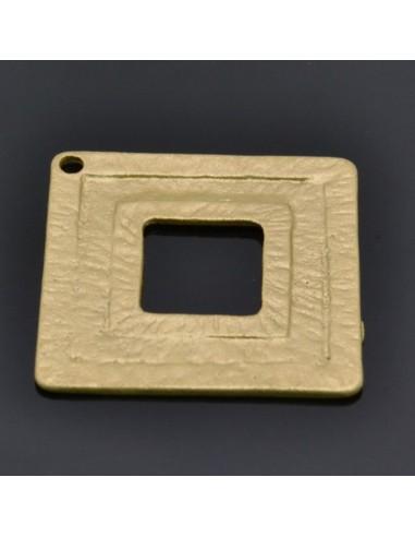 Ciondolo Zama quadrati forati Oro e Argento