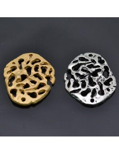 Ciondolo Zama ovale piccolissimi Oro e Argento