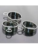 base anelli porta ciondoli con anello 7mm saldato da decorare fascia 6 mm in ottone 5pz