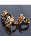 base anelli porta ciondoli con 14 anelli saldato da decorare 14x18 mm in ottone 5pz