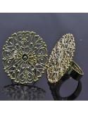 base anelli in ottone con filigrana TONDA 30mm Anello regolabile da decorare 1pz