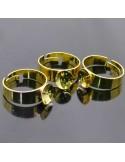 BASE ANELLO CON CASTONE Anello regolabile per perle di 1 foro da decorare 2pz