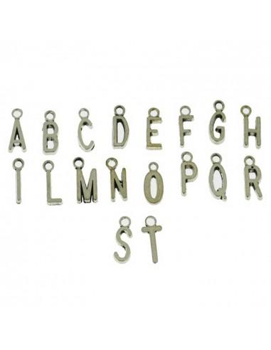 Ciondoli 10 Pz. lettere in metallo
