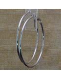 Orecchini a cerchio semplici in ottone col argento rodiato ottima qualità dimensione 15-80 mm