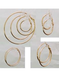 Orecchini a cerchio semplici in ottone col rodiato oro rodiottima qualità dimensione 15-80 mm
