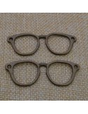 ciondoli connettori occhiali bigiotteria bracciale 18.5x55 mm 2 pz