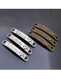 ciondolo connettore love e ali bigiotteria bracciale 6x40 mm 3pz