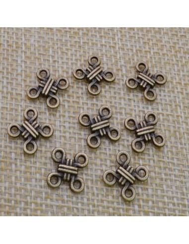 ciondolo connettore nodo colore bronzo bigiotteria bracciale 10 mm 7 pz