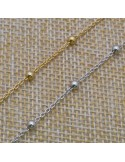 Catena con perlina 1,8x3 mm in argento 925% per 50 cm