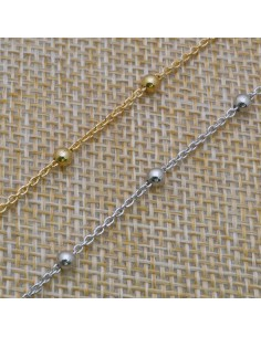 Catena con perlina 1,8x3 mm in argento 925% per 50 cm