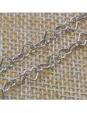 Catena con cuori 4x5 mm in argento 925% per 50 cm