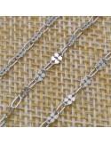 Catena con quadrifoglio in argento 925% per 10 cm