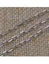 Catena con anelle rettangolari 2x4 mm in argento 925% per 50 cm