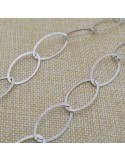 Catena in argento 925% anelle ovali piatte 29 x 15 mm per 50 cm