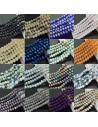 Filo cristallo Rondelle Cipollotti 4.5x6 mm varia colore briolette 90pz