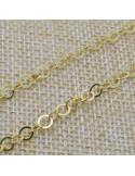 Catena anelle piatte 4 mm lavorate Arezzo in argento 925% per 50 cm