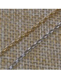 Catena argento 925% anelle ovali sfaccettata 1.8 x 2 mm per 10 cm di catena