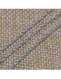 Catena in argento 925% anella ovali 2x3 mm per 10 cm
