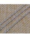 Catena in argento 925% anella ovali 2x3 mm per 50 cm