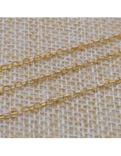 Catena in argento 925% anella ovali 3 mm per 50 cm di catena