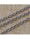 Catena Rolo in argento 925% argento rodio 3 mm per 50 cm