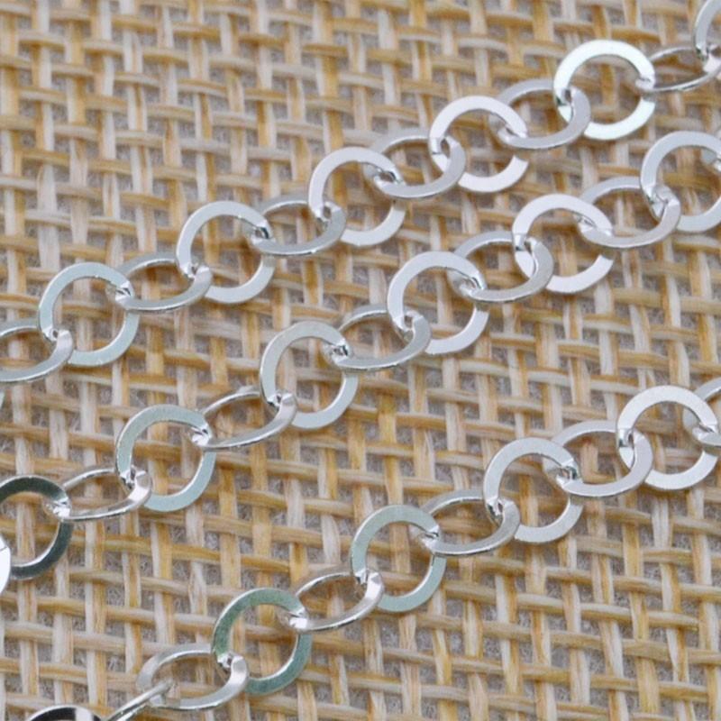 Catena Rolo anelle tonde 4 mm in argento 925% per 10 cm