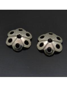 Copri perla fiore traforato 6 mm in argento 925% 30pz