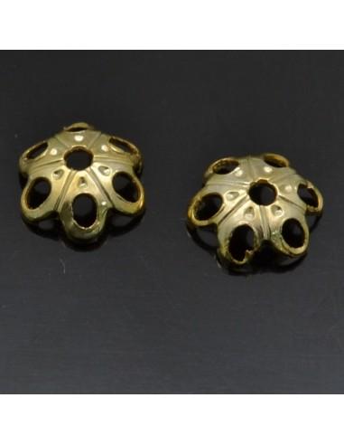Copri perla fiore traforato 5 mm in argento 925% 40pz