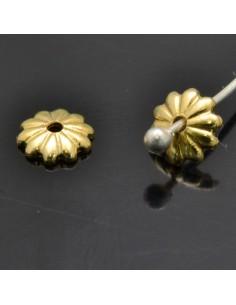 Copri perla 5 mm in argento 925% 50pz