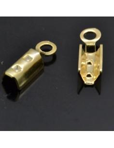 Terminali per cordoncino 10x3 mm in argento 925% 12pz