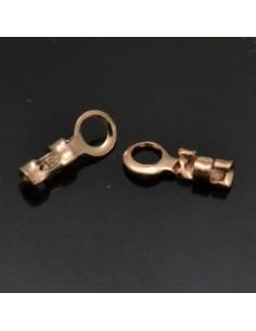 Terminali per cordoncino 6x2 mm in argento 925% 80pz