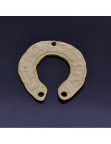 Ciondoli Zama inframezzo ferro di cavallo 3PZ 24x25mm