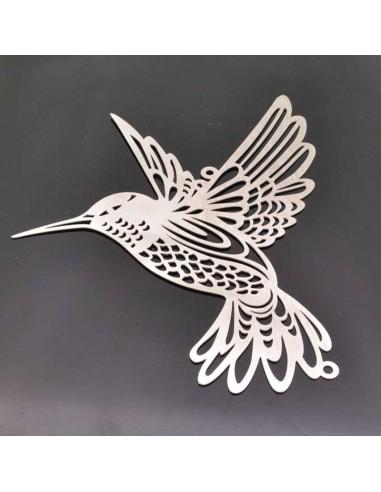 ciondolo uccello Filigrana in acciaio 90mm Connettori per bigiotteria 1 pz