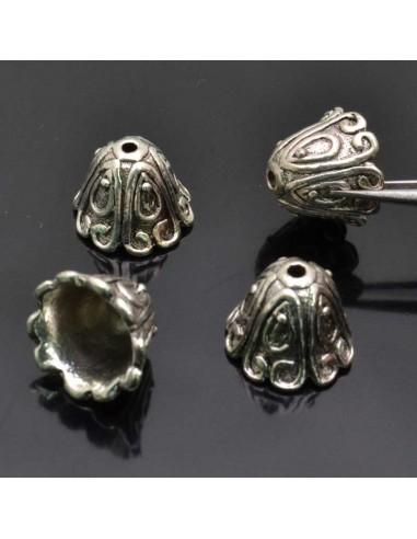 Copri perle in metallo per bigiotteria colore argneto 10x14 mm 4pz