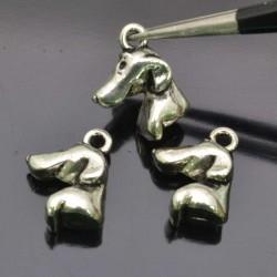 Cagnolino Cani Charms Ciondoli Animali 5pz 12x15 mm per bigiotteria