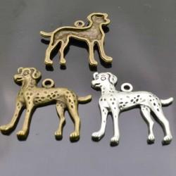 Cani dalmata Charms Ciondoli Animali 2pz 30mm argento bronzo per bigiotteria