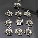 Ciondolo charm ciondolo Elefante 16x13mm per bigiotteria 10Pz.