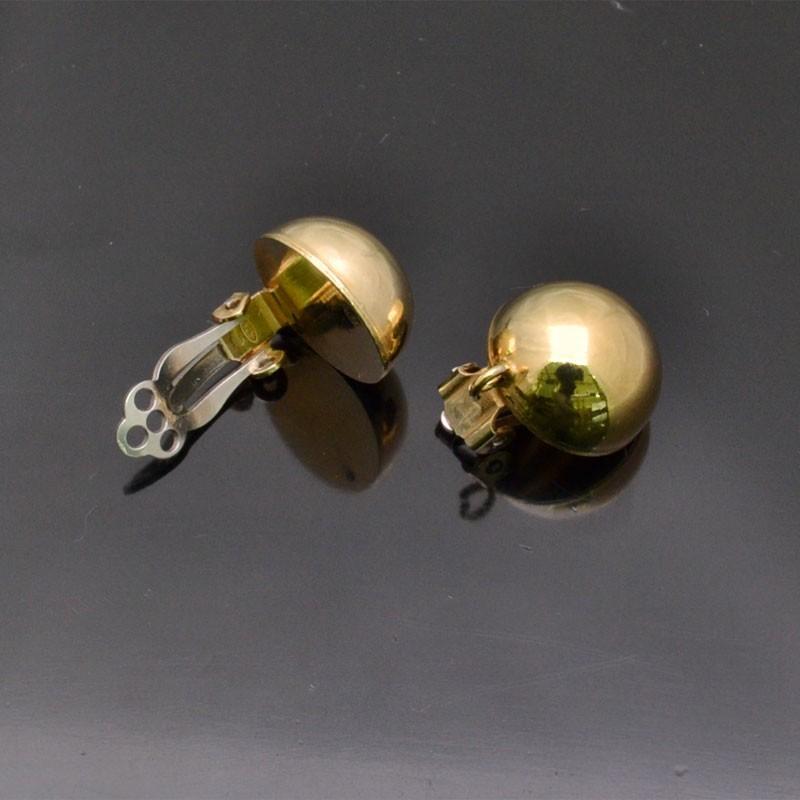 Orecchini a clip 15 mm in argento 925% 1 Paio